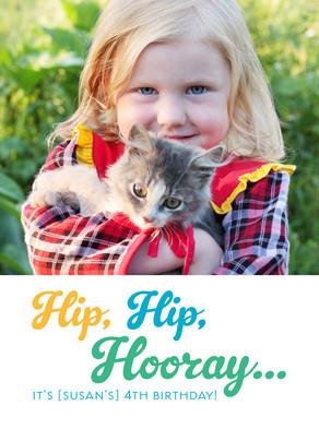 Hip Hooray Birthday 5x7 Folded Card