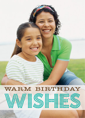 Warm Wishes Dots 5x7 Folded Card