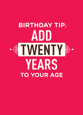 Birthday Tip 5x7 Folded Card