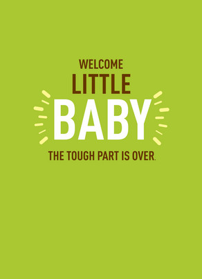 Welcome Little Baby 5x7 Folded Card