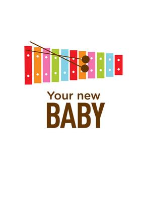 Freakin Cute Baby 5x7 Folded Card