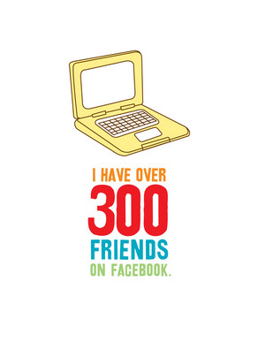 300 Facebook Friends 5x7 Folded Card