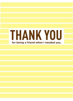 Yellow Stripes Friend 5x7 Folded Card