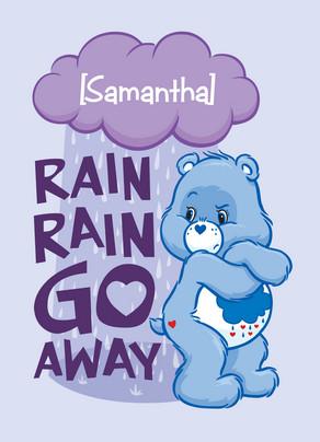 Rain Rain Go Away 5x7 Folded Card