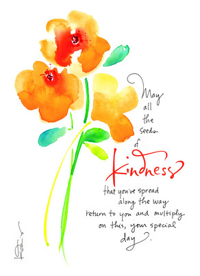 Seeds Of Kindness 5x7 Folded Card