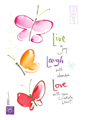 Live Laugh Love 5x7 Folded Card