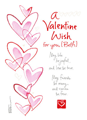 A Valentine Wish 5x7 Folded Card