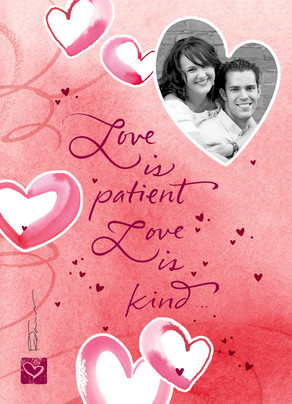 Love is Patient 5x7 Folded Card