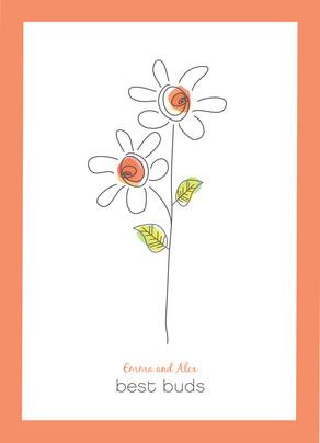 Daisy Valentines 5x7 Folded Card