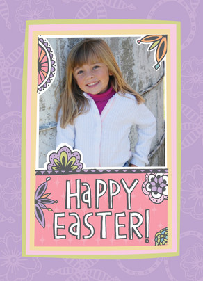 Photo Happy Easter 5x7 Folded Card
