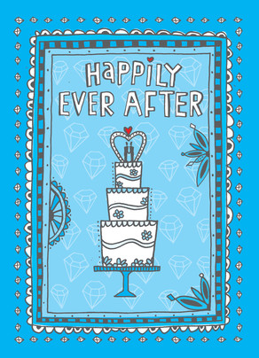 Happily Ever After Guys 5x7 Folded Card