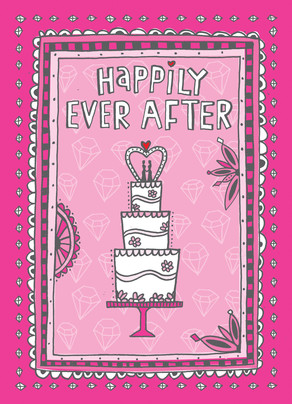 Happily Ever After Gals 5x7 Folded Card