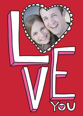 Love You Frame 5x7 Folded Card
