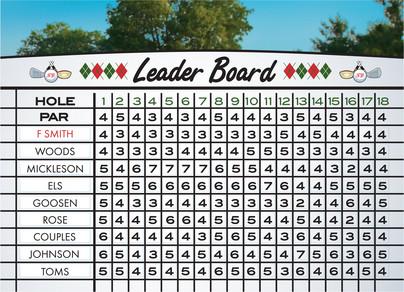 Golfer Dreams 7x5 Folded Card