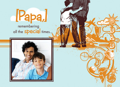 Dad Special Times 7x5 Folded Card