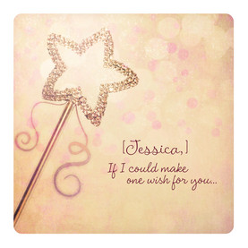 One Wish Wand 4.75x4.75 Folded Card