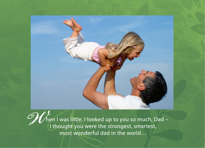 Dark Green Frame Quote 7x5 Folded Card