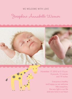 Giraffe Baby 5x7 Flat Card