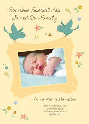 Bambino Announcement 5x7 Flat Card