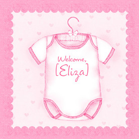Pink Onesie 4.75x4.75 Folded Card