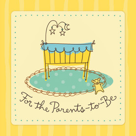Parents To Be 4.75x4.75 Folded Card