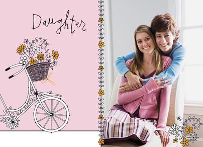 Daughter Bike 7x5 Folded Card
