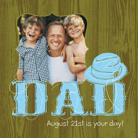 Top Hat Dad 4.75x4.75 Folded Card