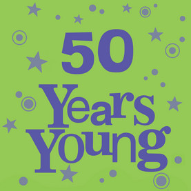 Years Young Birthday 4.75x4.75 Folded Card