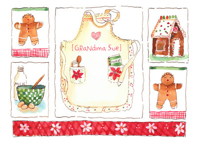 Holiday Cooking 7x5 Folded Card