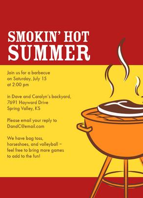 Smokin Hot Summer 5x7 Flat Card