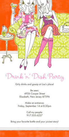 Drink and Dish 4x8 Flat Card