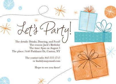 Lets Party Presents 7x5 Flat Card