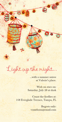 Light Up Lanterns 4x8 Flat Card
