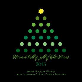 Holly Jolly Dots 4.75x4.75 Folded Card