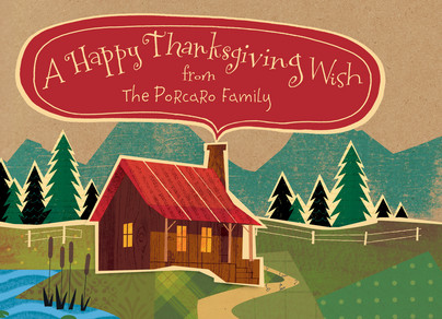 Home Thanksgiving Wish 7x5 Folded Card