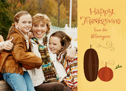 Thanksgiving Pumpkins 7x5 Flat Card