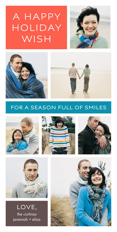 Full Season Smiles 4x8 Flat Card