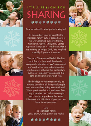 Sharing Season Newsletter 5x7 Flat Card