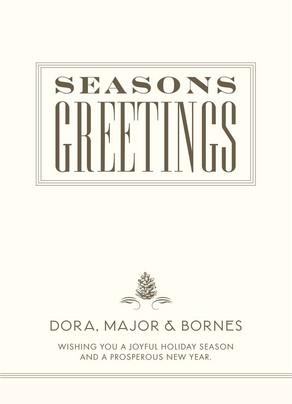 Square Seasons Greetings 5x7 Flat Card