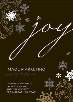 Business Holiday Joy 5x7 Flat Card