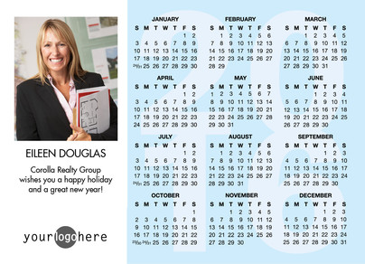 Business Holiday Calendar 7x5 Flat Card