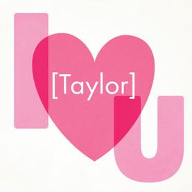 I Heart You 4.75x4.75 Folded Card