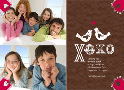 XO Love Birds 7x5 Flat Card