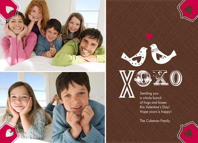 XO Love Birds 7x5 Flat Card