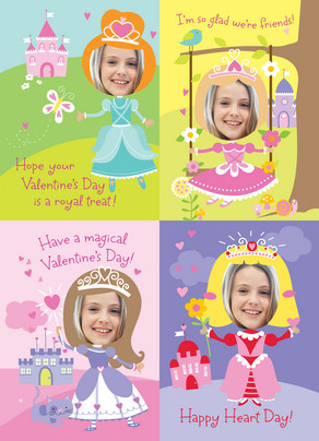 Princess Valentine 5x7 Flat Card
