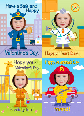 Career Valentine 5x7 Flat Card