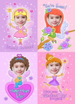Fairy Valentine 5x7 Flat Card