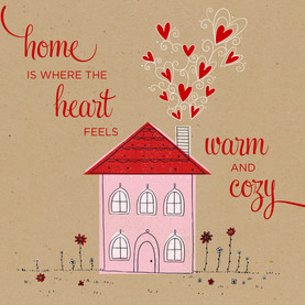 Warm Cozy Home 4.75x4.75 Folded Card