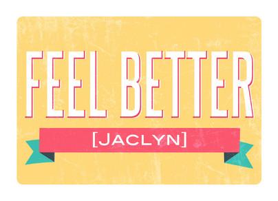 Feel Better Banner 7x5 Folded Card