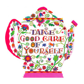 Good Care Tea Pot 4.75x4.75 Folded Card
